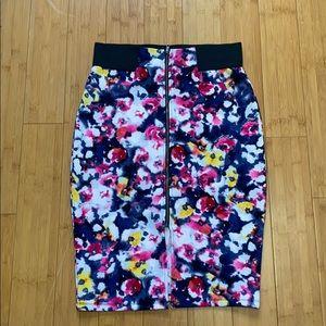 Material Girl Knee Pencil Skirt